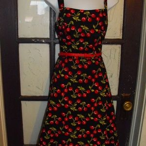 Rockabilly Pin Up Style Dress Size 9 Cherry Design